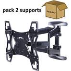 "Pack 2 supports double bras ""40-60""  600 x 400, 45kg max"
