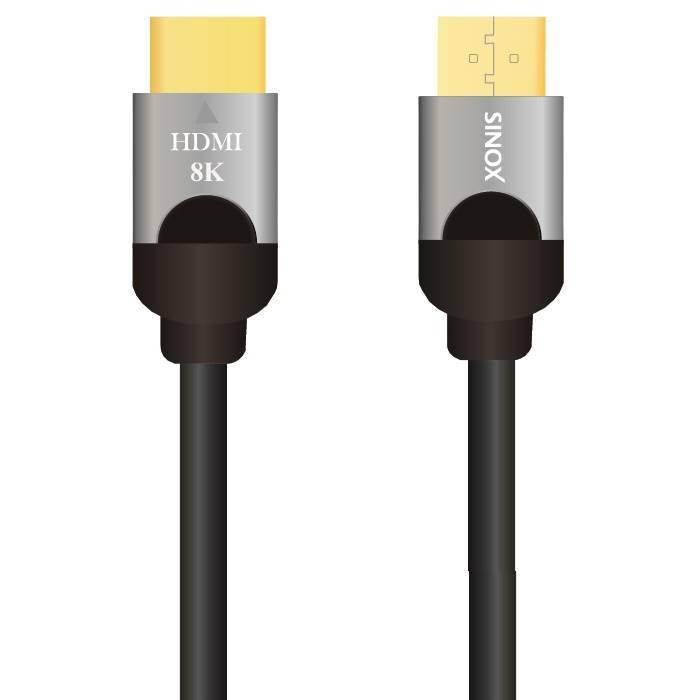 Câble HDMI - 2 1 8K60 Hz UHD HDR - Noir - 1 00 m