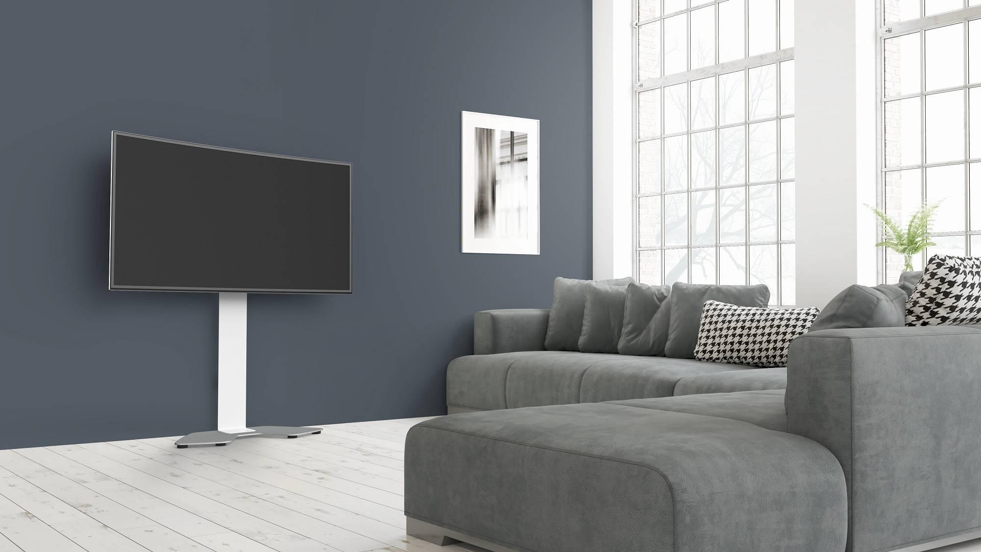 Fixer Une Tv Au Mur support mural sans perçage pour tv jusqu'à 65'' - hauteur