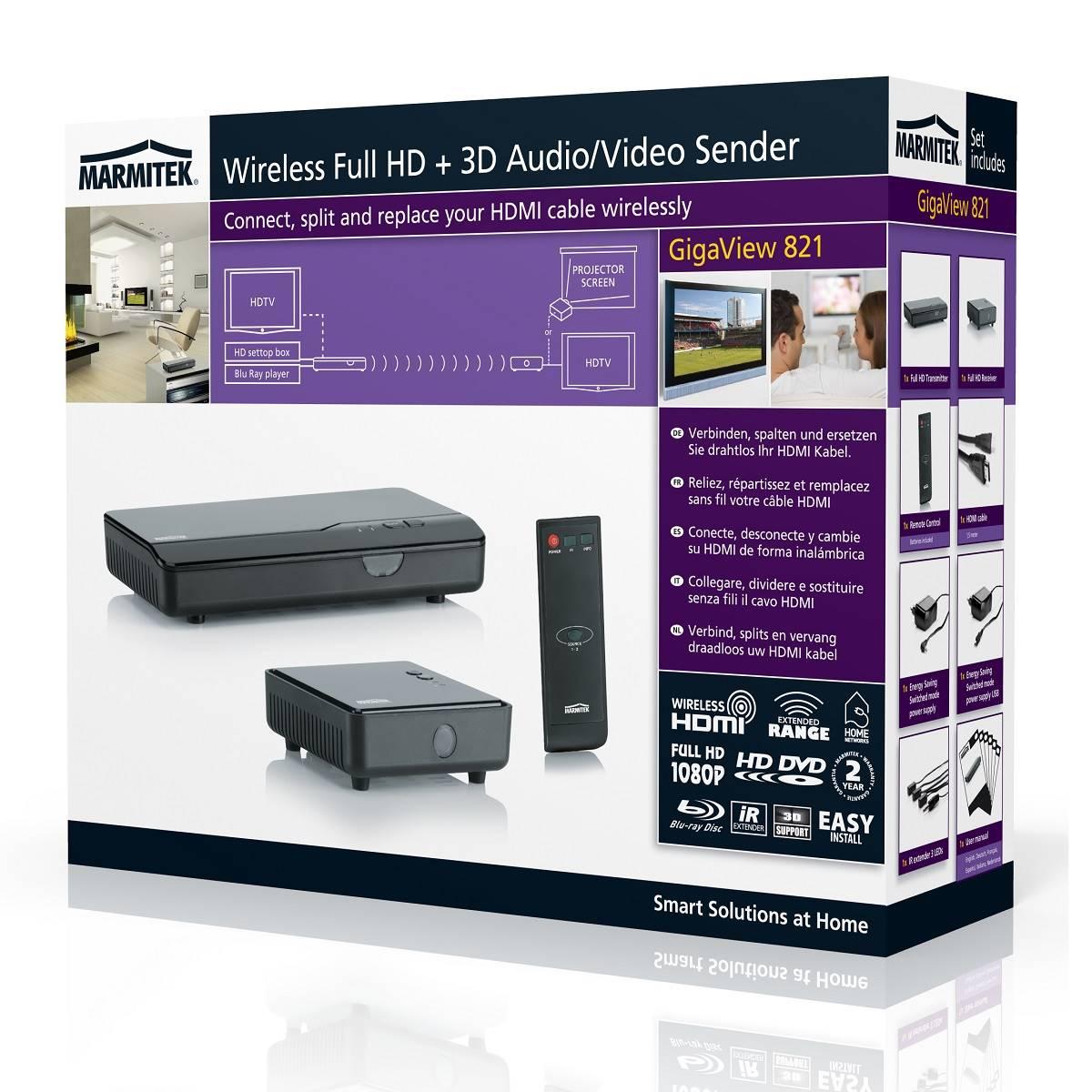 transmetteur vid o full hd sans fil 3d single floor. Black Bedroom Furniture Sets. Home Design Ideas