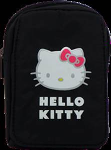 MOD35 Etui souple universel pour APN noir medium Hello Kitty
