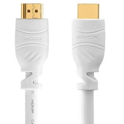 Câble HDMI - 2.0 4K60 Hz UHD - Blanc - 3.00 m - Bag