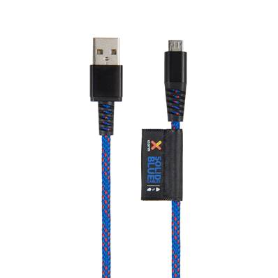 Cable Micro USB Solid Blue 1.00 m Xtrom